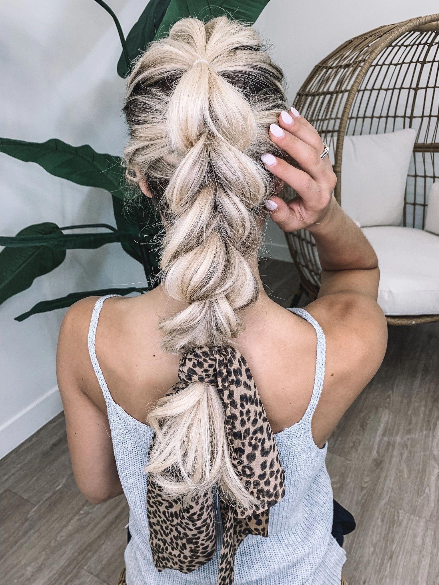 Haar Inspiration | Rote Haarfarbe | Braid Inspiration | Wie man einen Haarschal trägt …