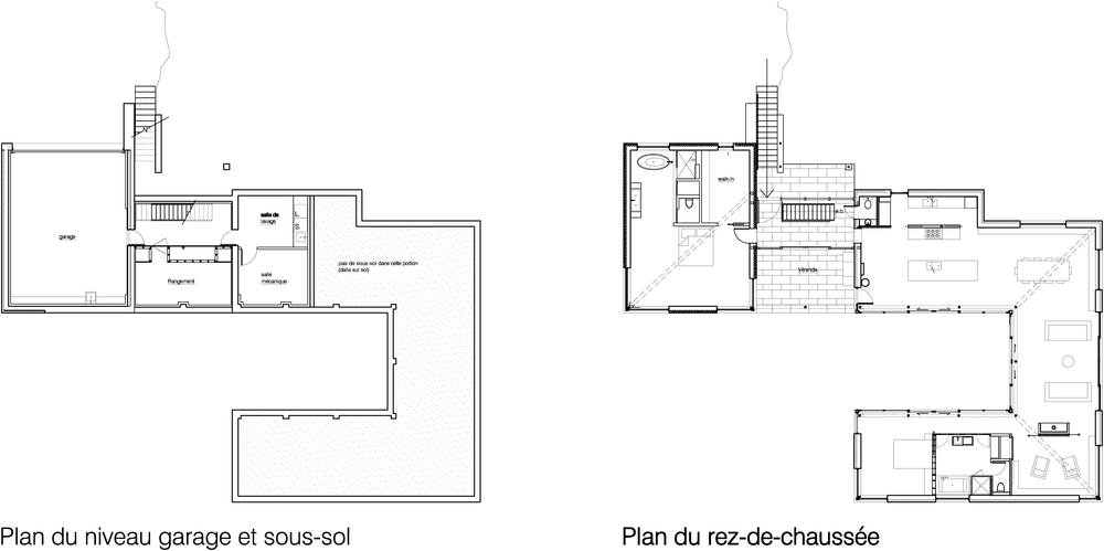 Charming Floor Plan   Modern   Master Bedroom Separated From Other Structure   Bromont  House By Paul Bernier Architecte