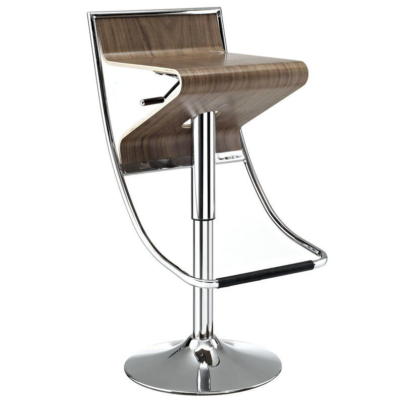 Zig Zag Adjustable Height Swivel Bar Stool Adjustable Bar Stools