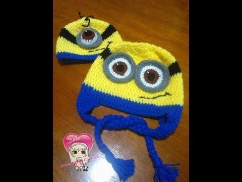 042fdbe0a3d40 Receita de Crochê Infantil  Touca em crochê dos Minions para menino e menina