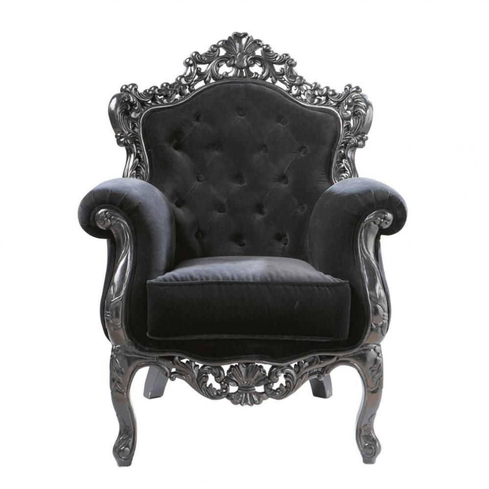 Black skull chair - Or A More Baroque One In Grey I Love Baroque Like A Barber Chairantique Furnituregothic Furnitureskull