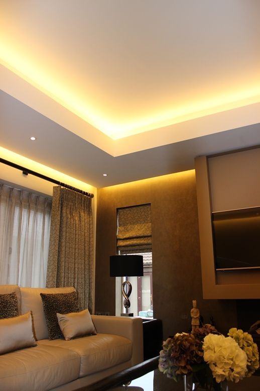 coffer lighting. This Shows Great Use Of Coffer Lighting To Help Create Different Moods Within A Room.