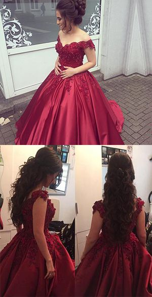 5fb9995284e Burgundy Off the Shoulder Quinceanera Dresses