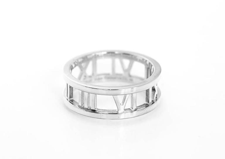 b55974035 Tiffany & Co. Atlas Gold Open Roman Numeral Band Ring 2   Stuff in ...