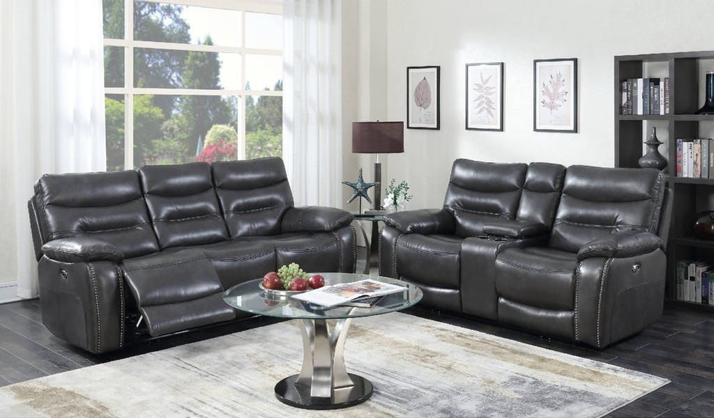 Best Badcock More Ritz Grey Sofa Loveseat Living Room 400 x 300
