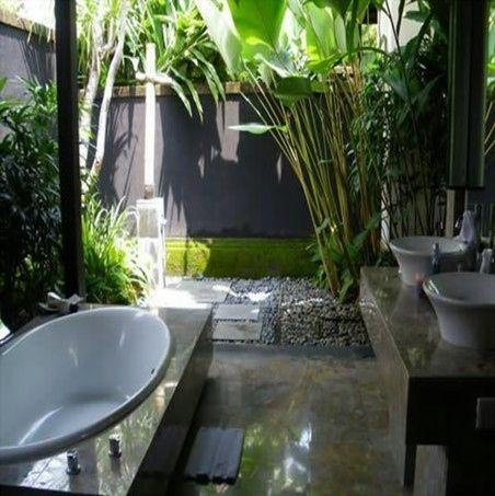 Attractive Outdoor Bathrooms And Indoor Gardens