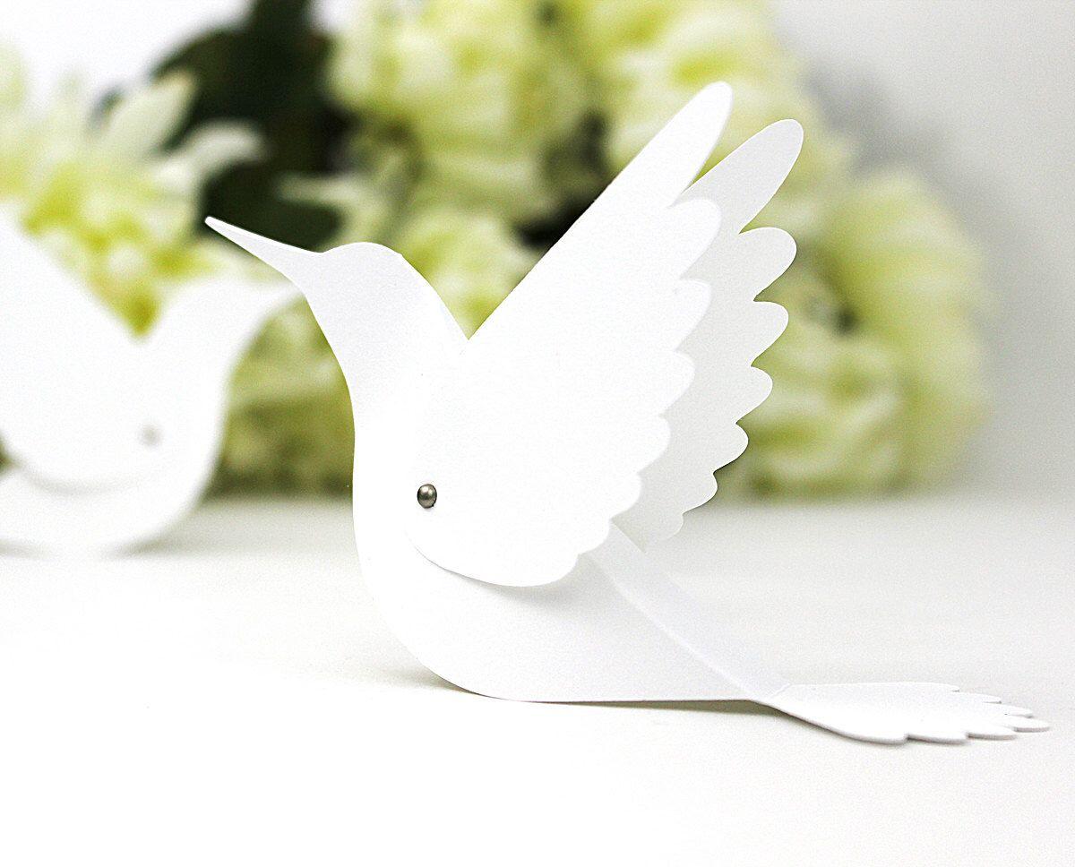 20 Hummingbird Place Cards - Wedding Escort Cards / Bird Name Cards ...