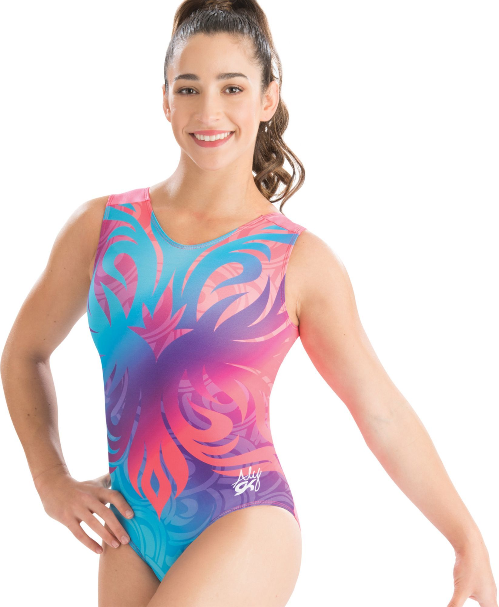 370b46d0da73 GK Elite Women s Aly Raisman Artistic Bloom Gymnastics Leotard