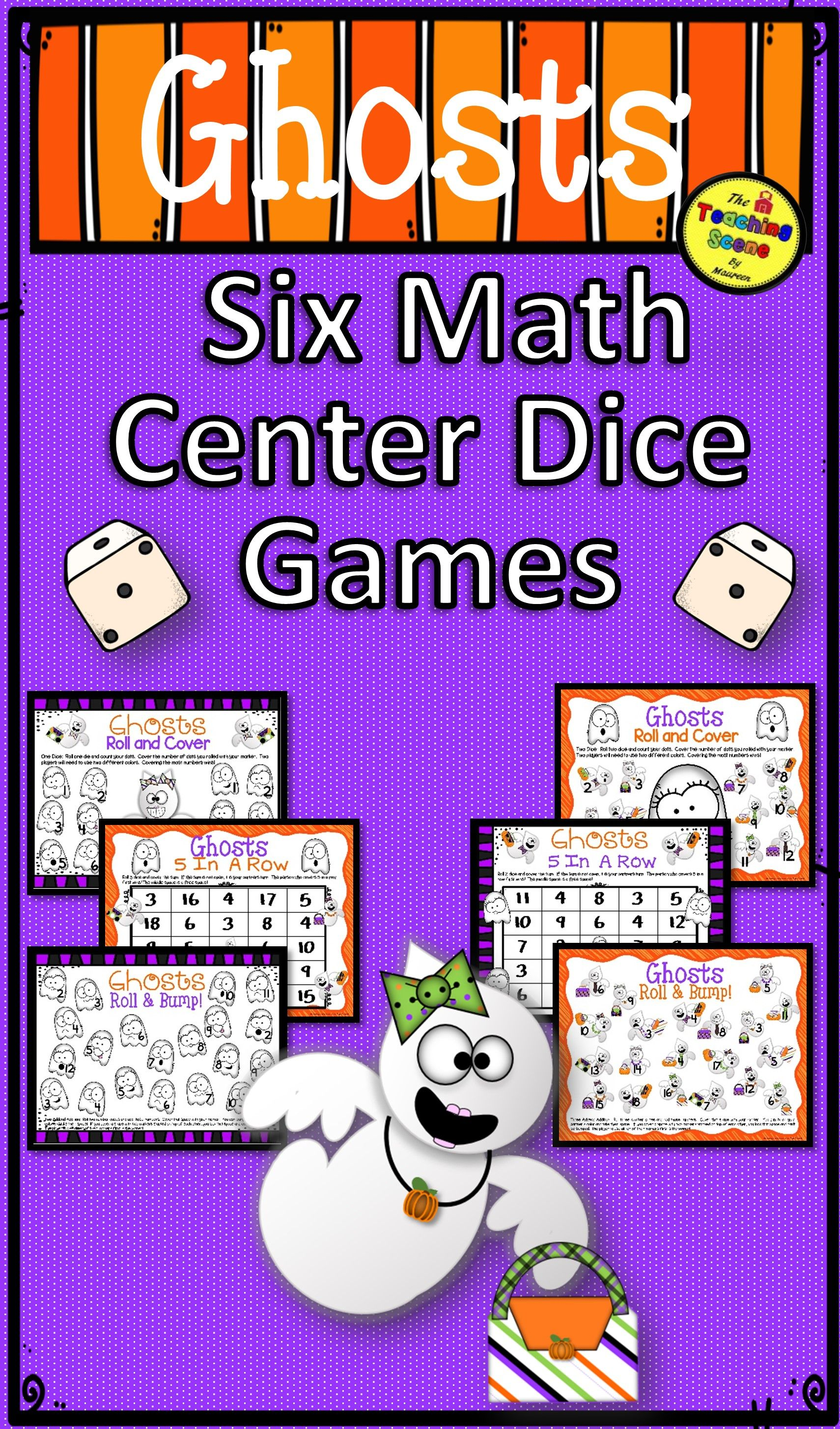 Ghosts Math Center Dice Games