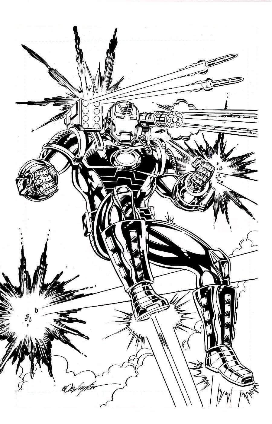 Pin By Dion Heimink On War Machine Comic Book Artwork Original Iron Man Marvel Coloring