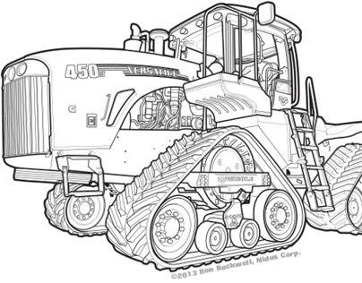Technical Illustration of a Versatile 450 Delta Tractor