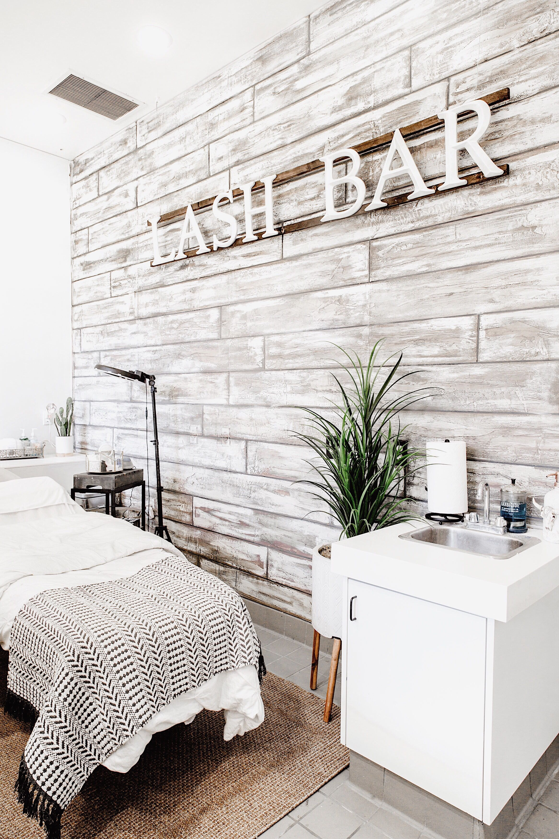 Main Lash Bed Bed For Our Master Lash Artist So Many Ideas For Beautiful Lash Room Decors But This Is Esthetician Room Decor Beauty Room Salon Esthetics Room