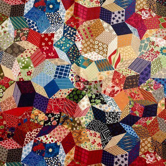 Boho Gypsy Upholstery Fabric, Home Decor Retro Vintage Fabric