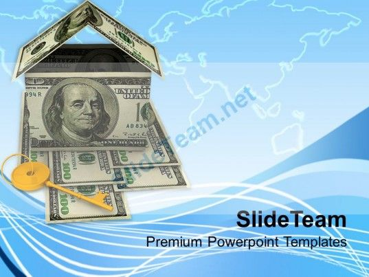 Image Of House Key And Money Home Powerpoint Templates Ppt Themes - money background for powerpoint