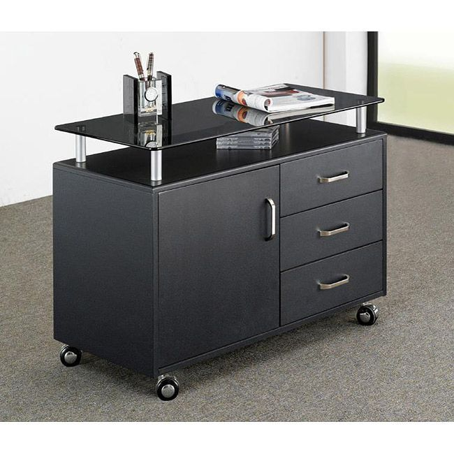Replace Your Heavy Metal Storage Cabinet With This Modern Rolling File Non Marking Chrome Wheels Make It Easy To Transport Important Doents