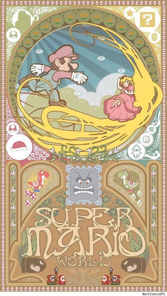 Super Mario Art Nouveau... yes please