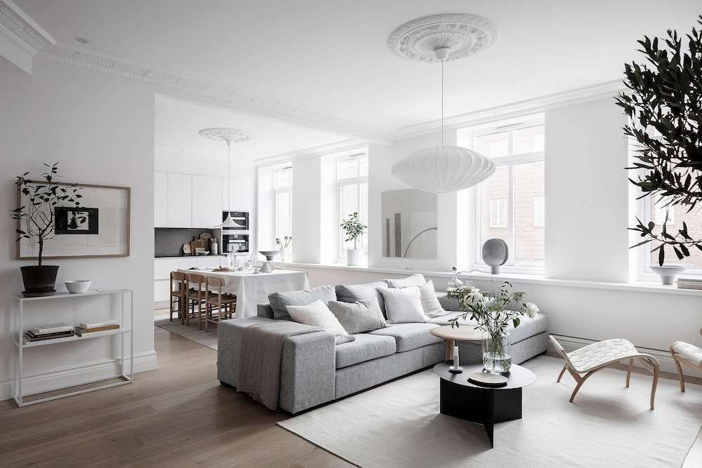 Tour A Calm Composed And Bright Scandinavian Home Nordic Design 1930s House Interior Home Decor Scandinavian Home