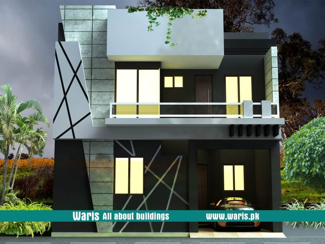 Waris house 3d view elevation 30x40 in gujranwala pakistan