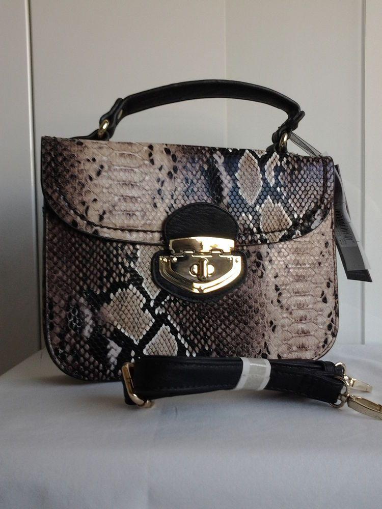 c3510b610f Marina Galanti Mock Snake Skin Handbag | Snakeskin handbag | eBay ...