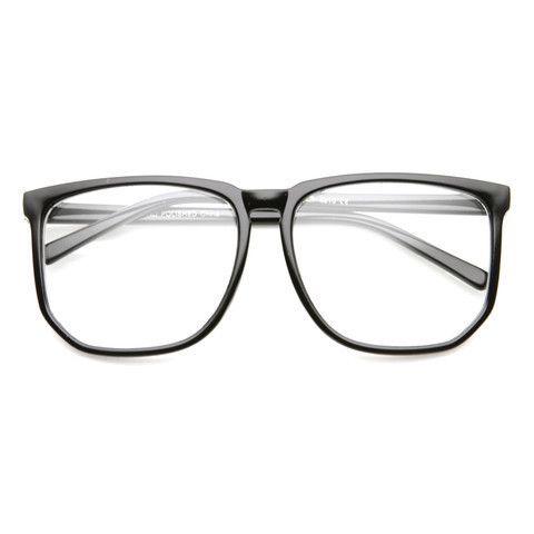 ee0c7a5b6466 Large Oversized Wayfarer Glasses Clear Lens Thin Frame Nerd Glasses. Hipster  ...