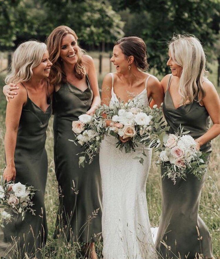 Khaki Silk Bias Slip Dress Army Green Silk Slip Dress Silk Etsy Olive Green Bridesmaid Dresses Wedding Bridesmaid Dresses Green Bridesmaid Dresses
