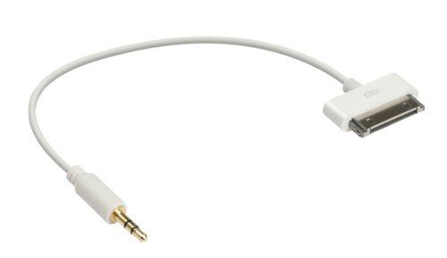 Ziotek Zt1900658hc1 1 Feet Ipod 30pin To 3 5mm Audio Cable White By Ziotek 7 65 From The Manufacturer Audio Cable Electronic Accessories Electronic Cables