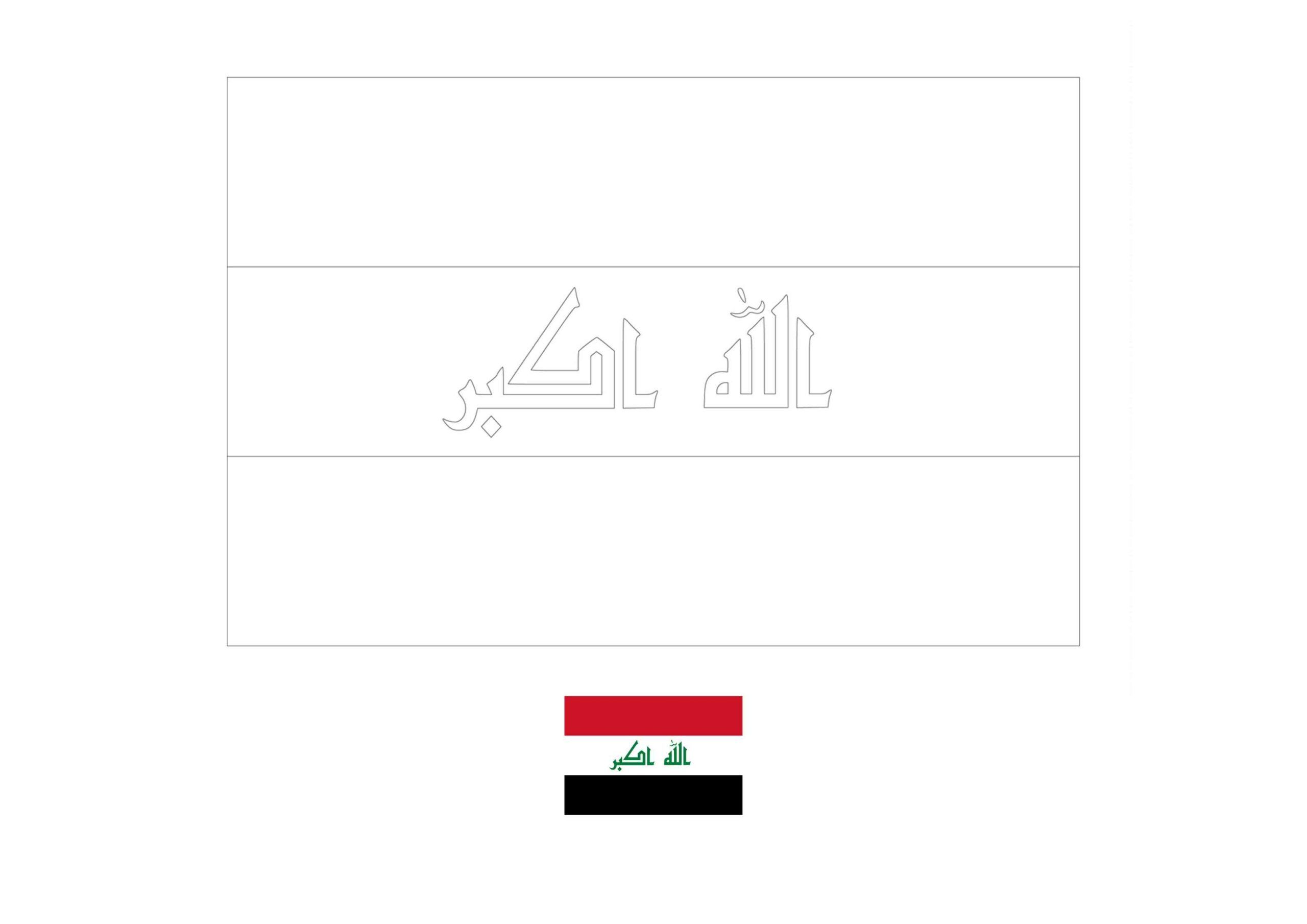 Iraq Flag Coloring Page Flag Coloring Pages Coloring Pages