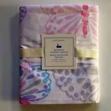 POTTERY BARN KIDS BUTTERFLY SHOWER CURTAIN NEW PINK PURPLE SPRING GIRL BATH ROOM