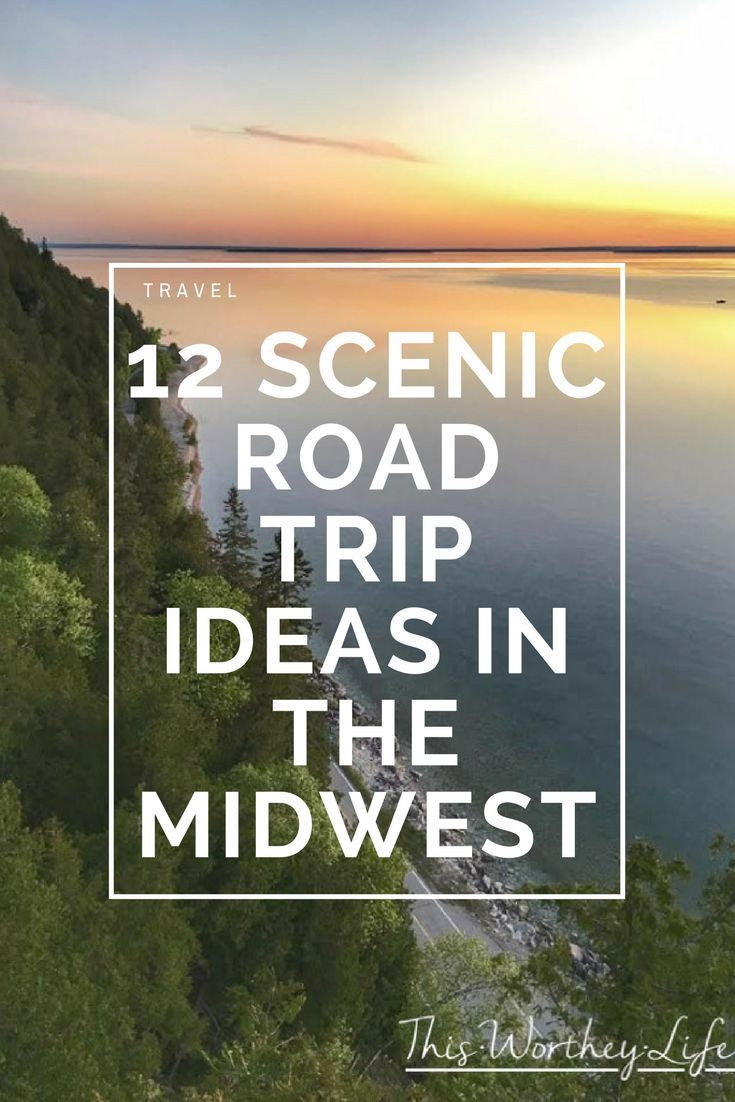 plan a beautiful #roadtrip #vacation around the #midwest with these