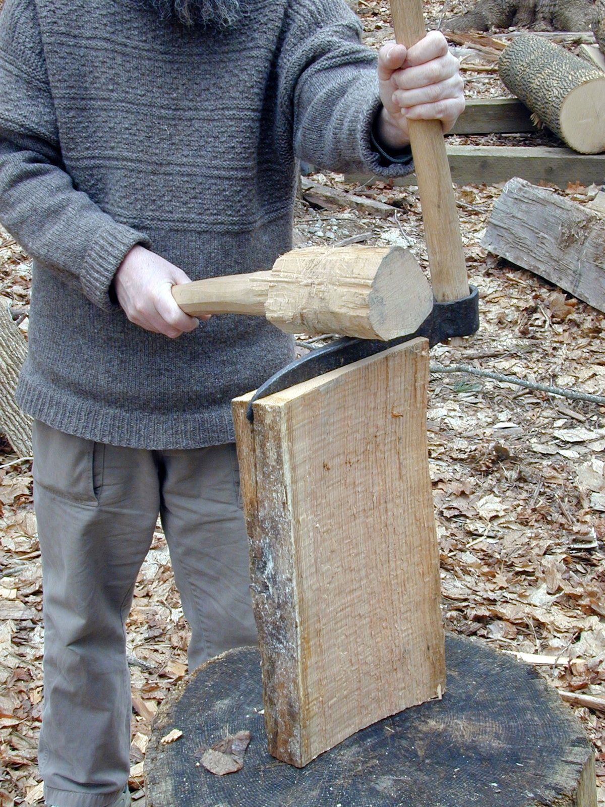 start at the beginning Green woodworking, Woodworking