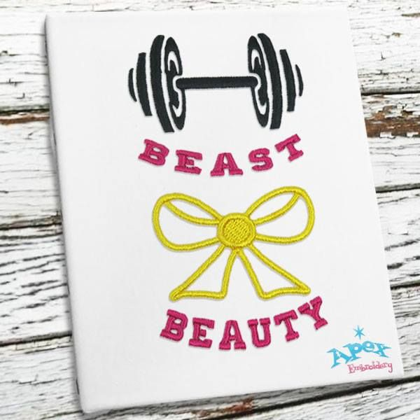 The Beast And The Beauty Embroidery Designs You Get 2 Sizes 3 And