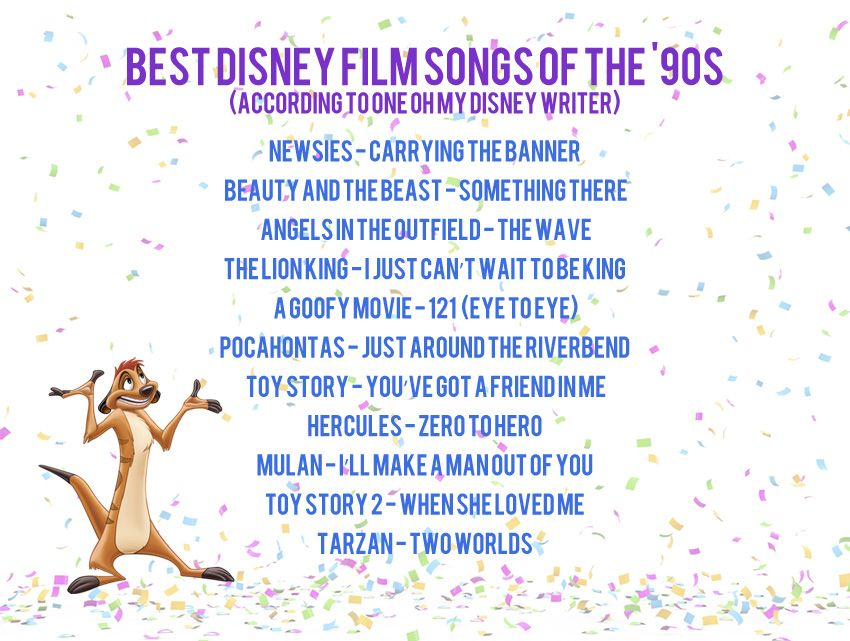 The Best '90s Disney Songs (One Writer's Opinion | Oh My Disney | Disney Songs, Disney films, Disney