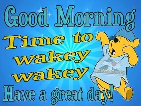 Good Morning Time To Wakey Wakey Have A Great Day Morning Good Morning Morning Quotes Good Mor Good Morning Cartoon Good Morning Greetings Good Morning Meme