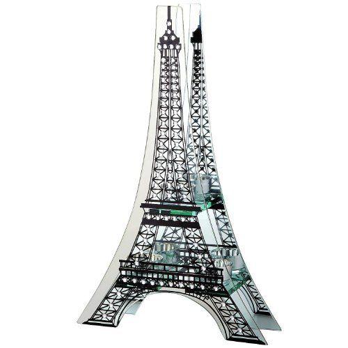 Robot Check Eiffel Tower Tea Lights Mirrored Glass
