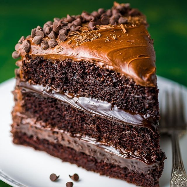 Super Decadent Chocolate Cake With Chocolate Fudge Frosting Recipe Death By Chocolate Cake Death By Chocolate Desserts