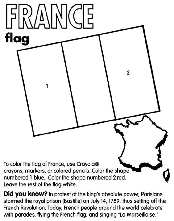 Use Crayola® crayons, markers, or colored pencils to color the flag ...