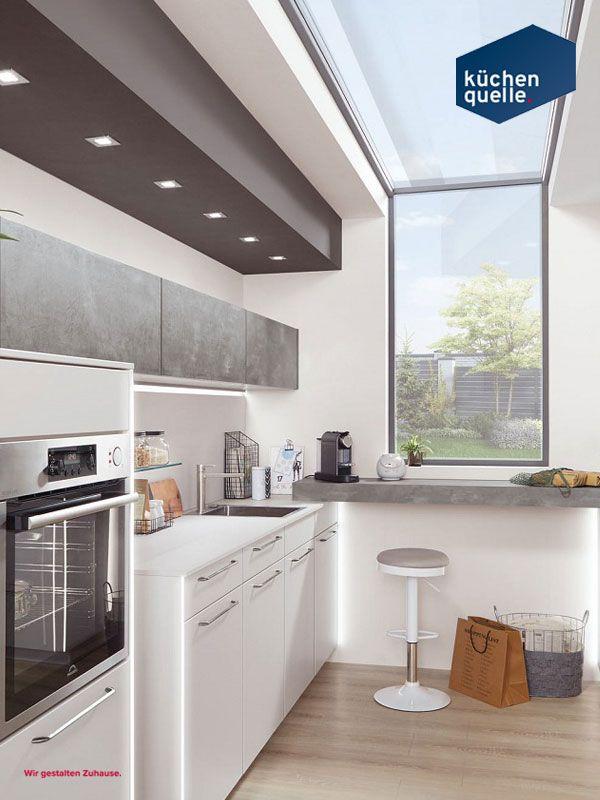 Modern und zeitlos - mit den matt lackierten, seidengrauen Fronten - einbauküchen für kleine küchen