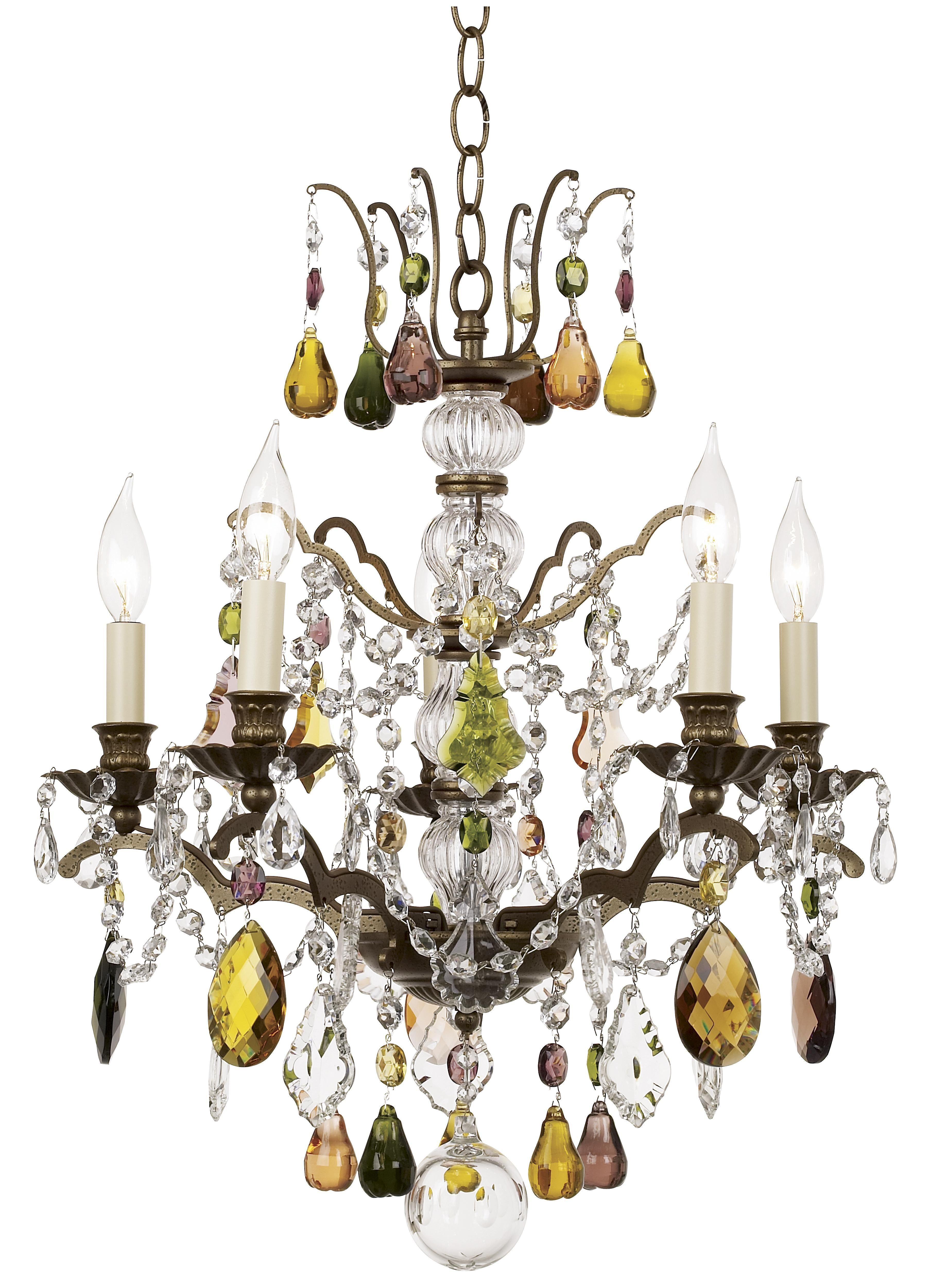 Schonbek Bordeaux Collection Multi Color Crystal Chandelier