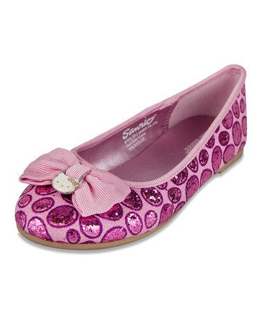 Take a look at this Pink Leopard Phoebe Flat by Hello Kitty on #zulily today!