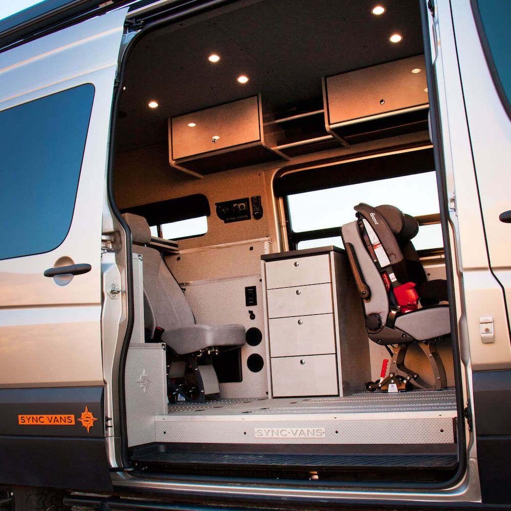 Sync Vans Layouts In 2020 Van For Sale Custom Countertops Upholstered Walls