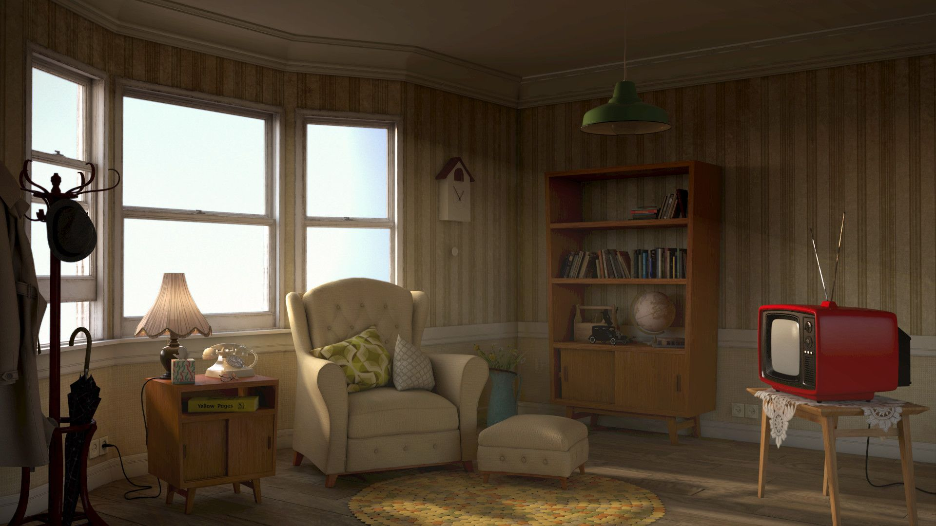 Living Room Background For The Chime Animation By Hjeojeo Anime Background Living Room Background Cartoon Background