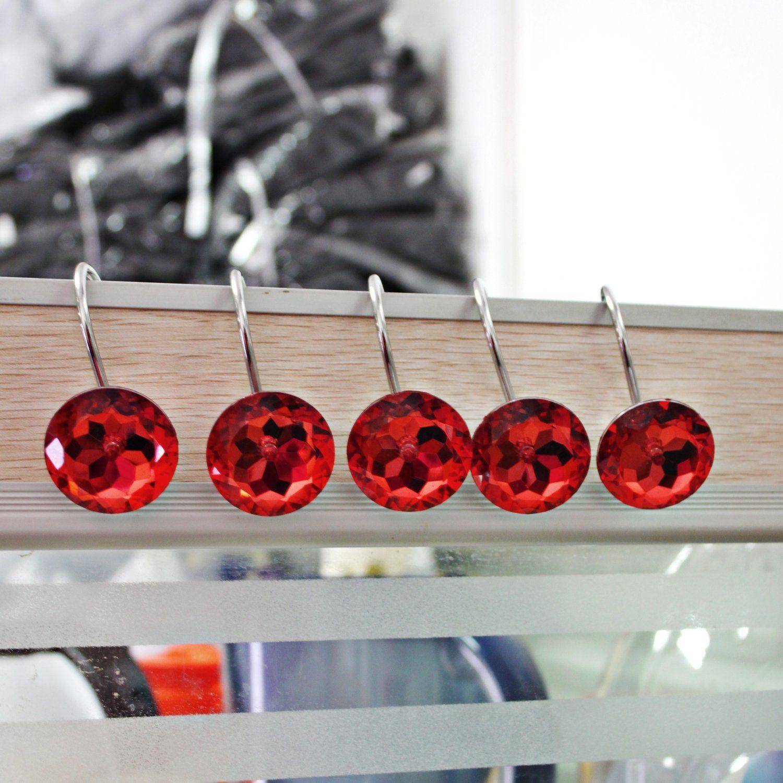 Shower Curtain Hooks Diamond Shape Shower Rings Round Acrylic