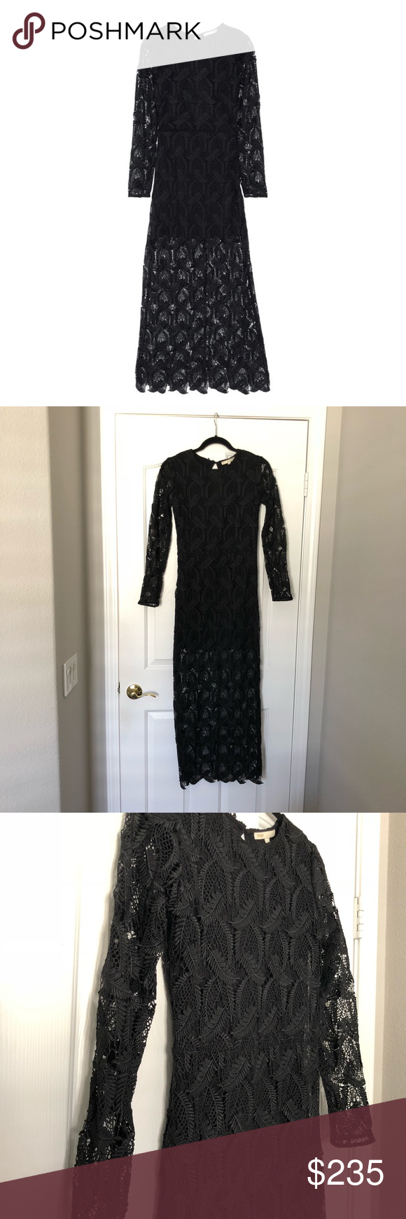 b9282497c4 Maje Cutout Guipure Lace Maxi Dress Size 1 -Size 1 -Guipure Lace -Concealed  Zip Fastening on one side -Button fastening keyhole in back -Scalloped Hem  ...