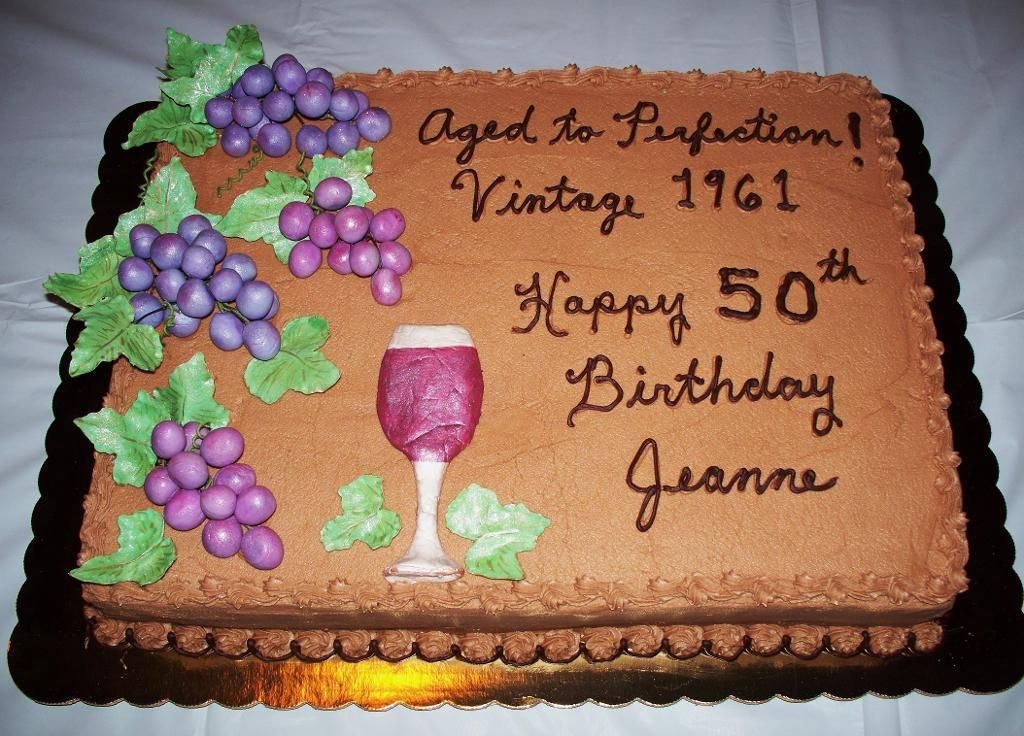 unique crafts 50th Birthday cake by CMAC Cake Decorating