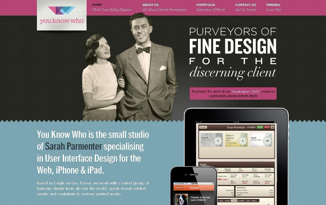 Youknowwhodesign website for inspiration