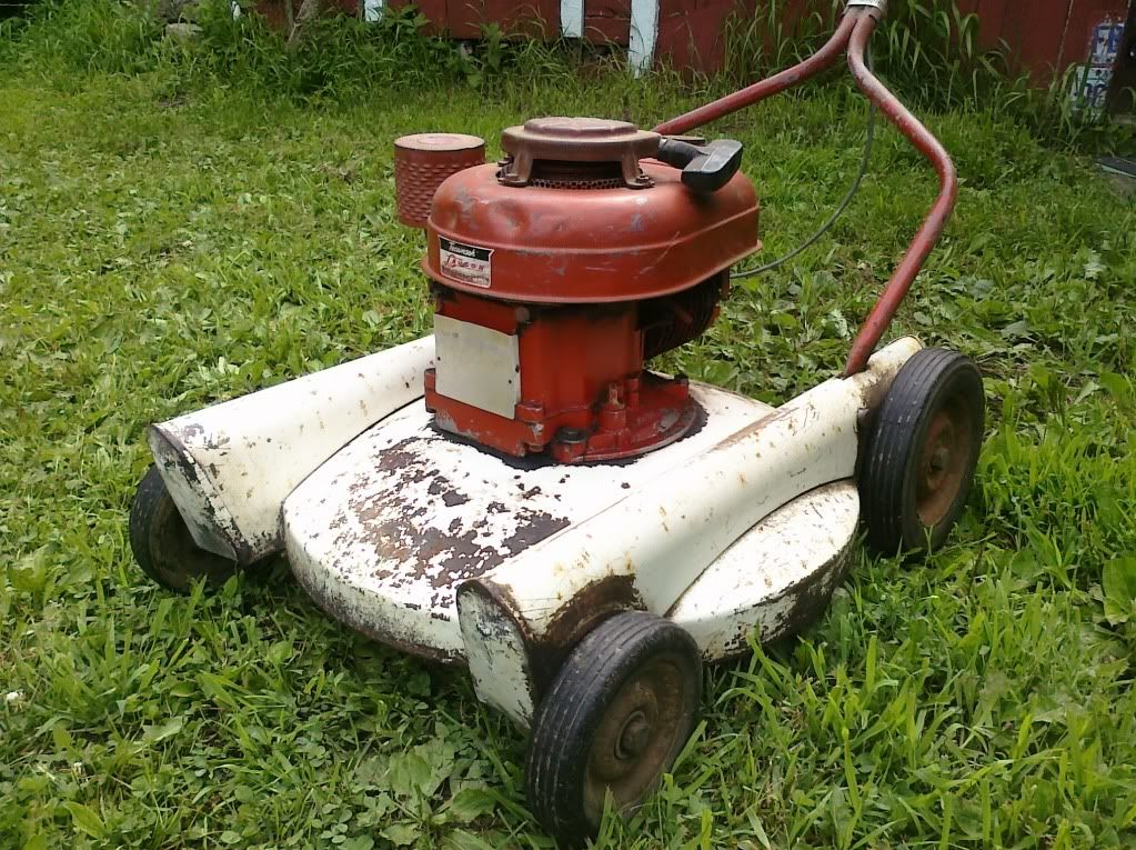 Good candidate for a restoration vintage lawn mowers for Lawn tractor motors for sale