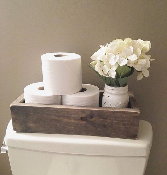 Photo of Toilet paper holder / Nice Butt / Wood Box / Bath Storage / Toilet Box / Farmhouse Bathroom Decor / The Poop Palace / Toilet Paper Box