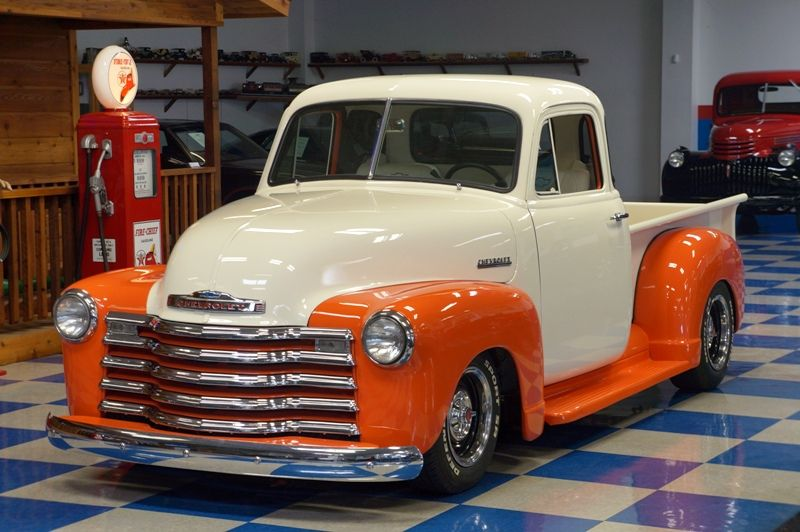 51 chevy orng 1 2 truck obsessions pinterest cars for 1951 gmc 5 window pickup
