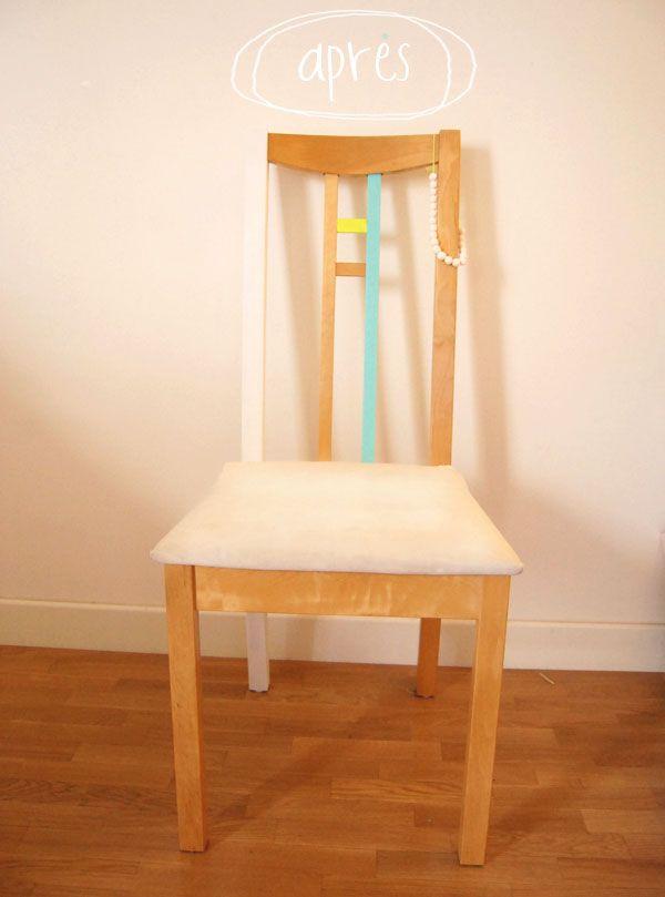 diy peindre une chaise en bois decoration. Black Bedroom Furniture Sets. Home Design Ideas