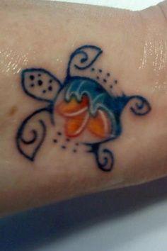 cute turtle wrist tattoo - Google Search